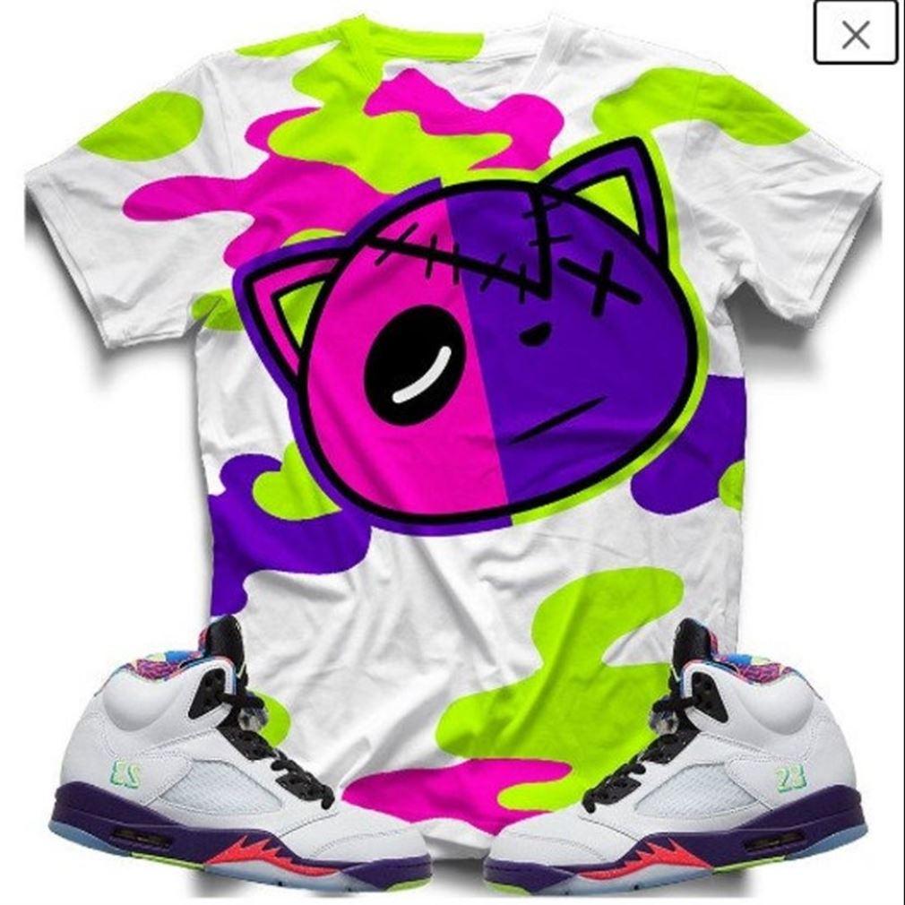 Terrific T-shirt Alt Bel-air Retro 5 T-shirt T-shirt And Face Mask To Match The Air Jordan Retro 5 Alt Bel-air Sneaker So Wonderful
