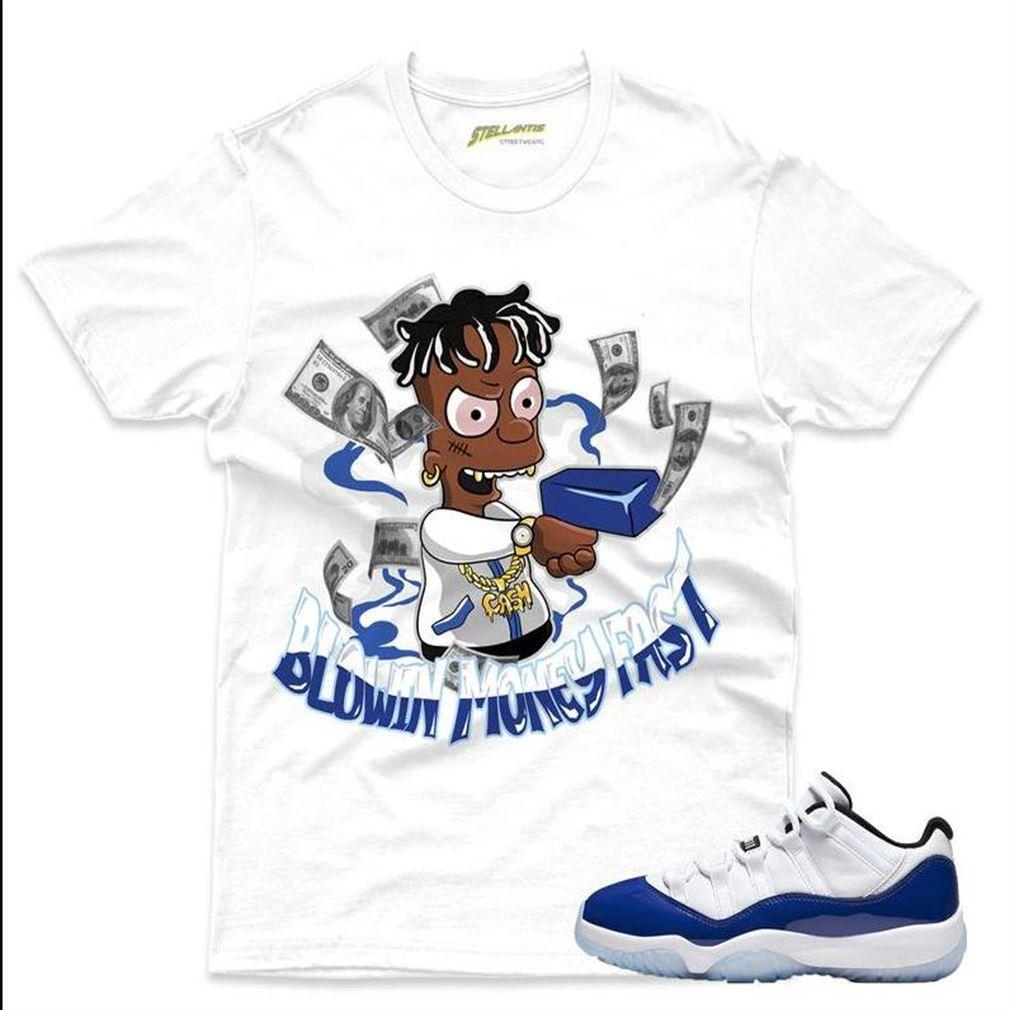 Terrific T-shirt Blowin Money Fast Shirt Match Jordan 11 Retro Low _quot_concord Sketch_quot_ Sneaker Unisex Brilliant T-shirt