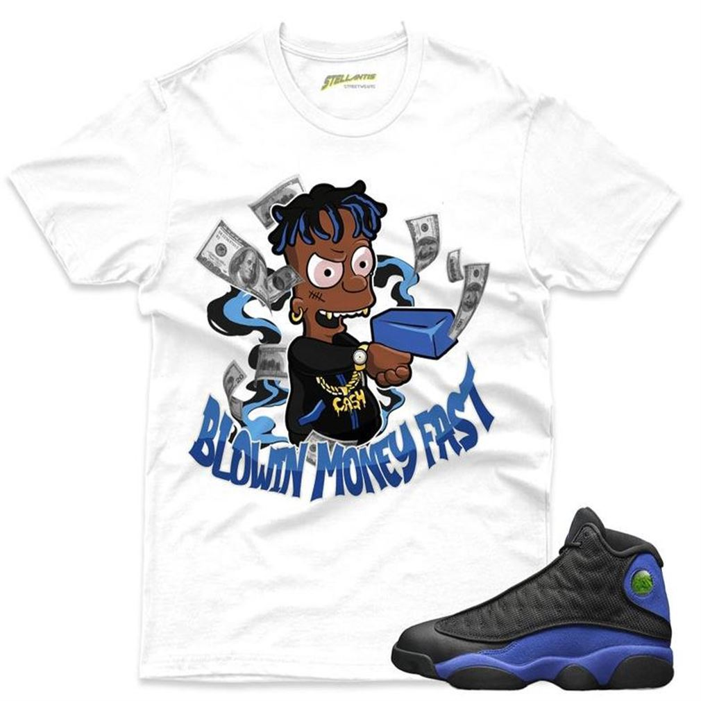 The Bees Knees Tee Shirt Blowin Money Fast Shirt To Match Jordan 13 Retro Black Hyper Royal Sneaker Unisex For Men And Women