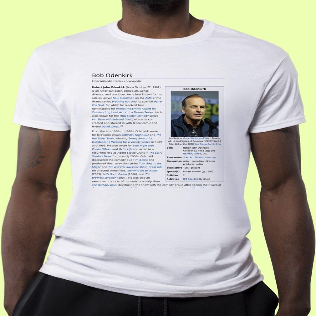 Bob Odenkirk Wikipedia Classic T Shirt
