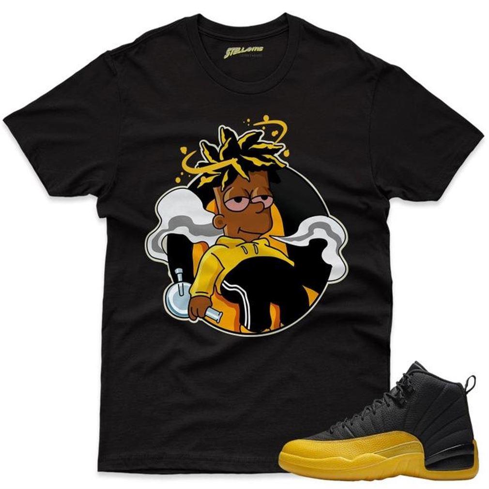 The Bee's Knee T-shrirt Chillin - Air Jordan 12 Retro Black _quot_university Gold_quot_ Sneaker Streetwear Unisex Brilliant T-shirt