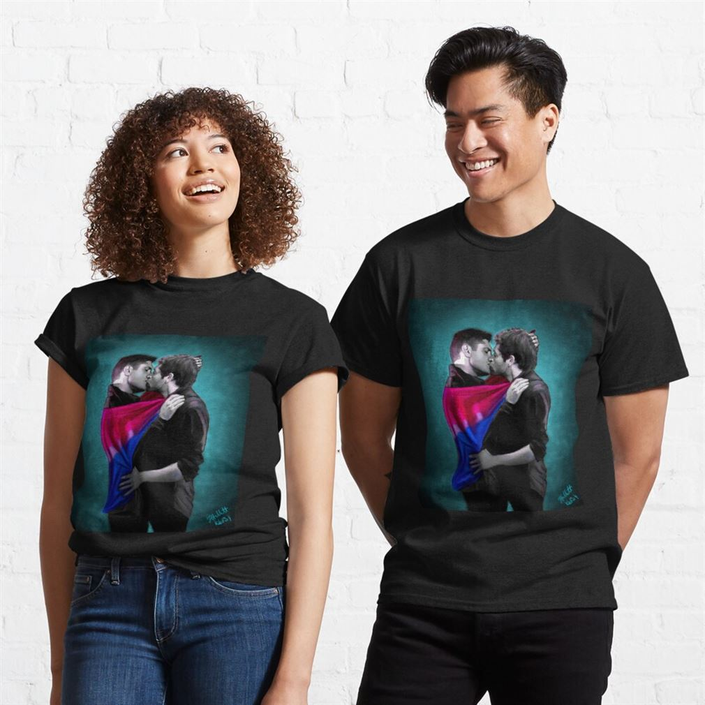 Awesome Dean Is Bi Deanisbi Shirt Bisexual Pride 100% Cotton