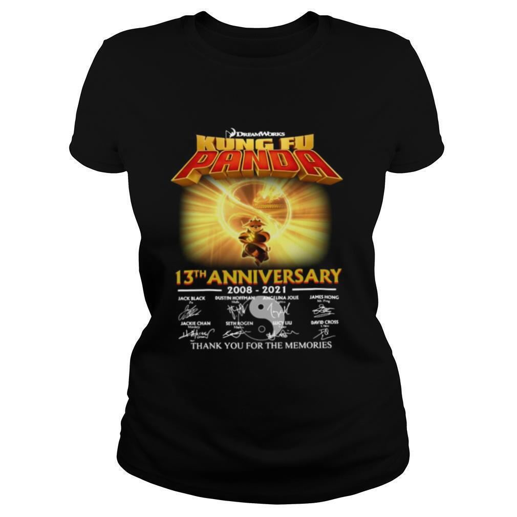 Terrific Tees Dreamworks Kung Fu Panda 13th Anniversary Thank You For The Memories Signatures So Epic