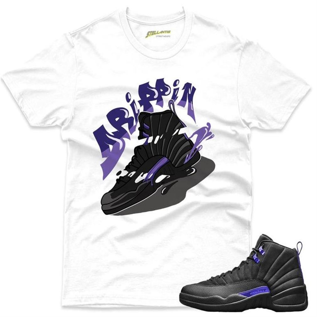 Amazing T-shirt Drippin Kicks - Air Jordan 12 Retro Black _quot_dark Concord_quot_ Sneaker Streetwear Unisex For Men And Women
