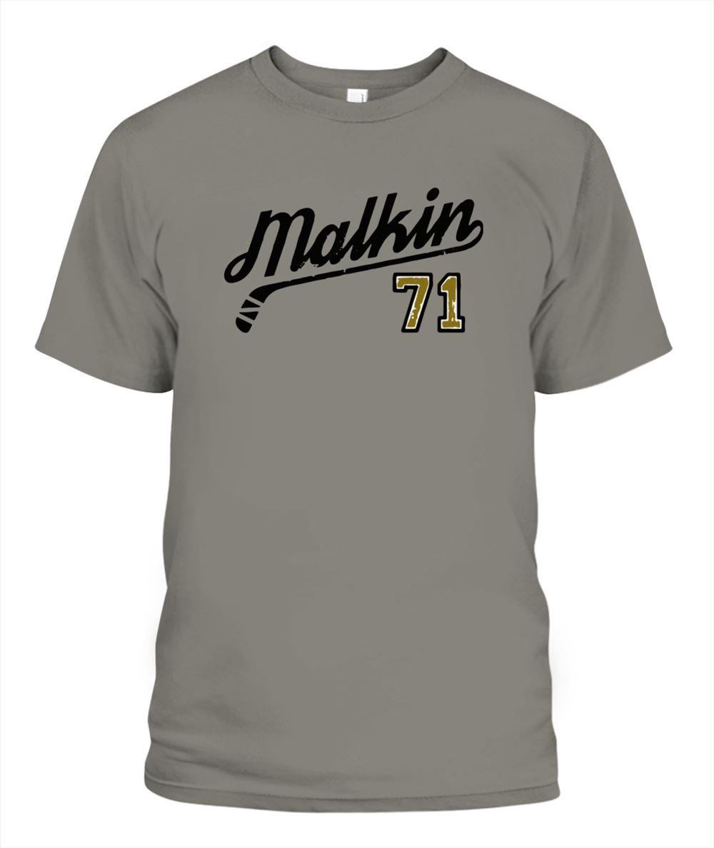 Fantastic Evgeni Malkin 71 Script Shirt Brilliant T-shirt