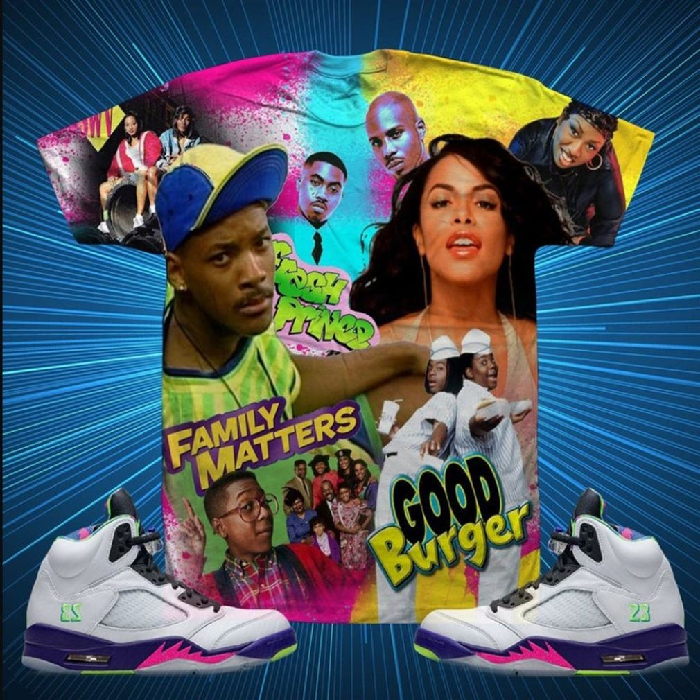 Amazing Family Matters Good Burger Jordan 5 Bel Airt-shirt Unisex T-shirt To Match Brilliant T-shirt