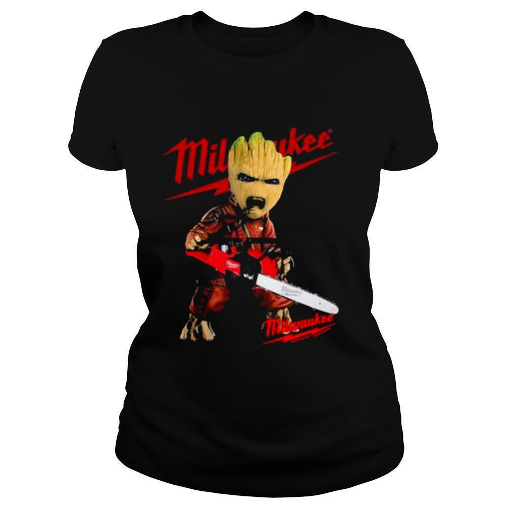 Awesome Tees Groot With Logo Milwaukee 100% Cotton