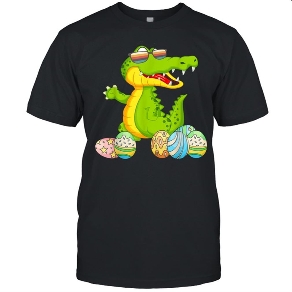 Terrific T-shirt Happy Easter Crocodile Crocodile Wearing Sunglasses New 2021