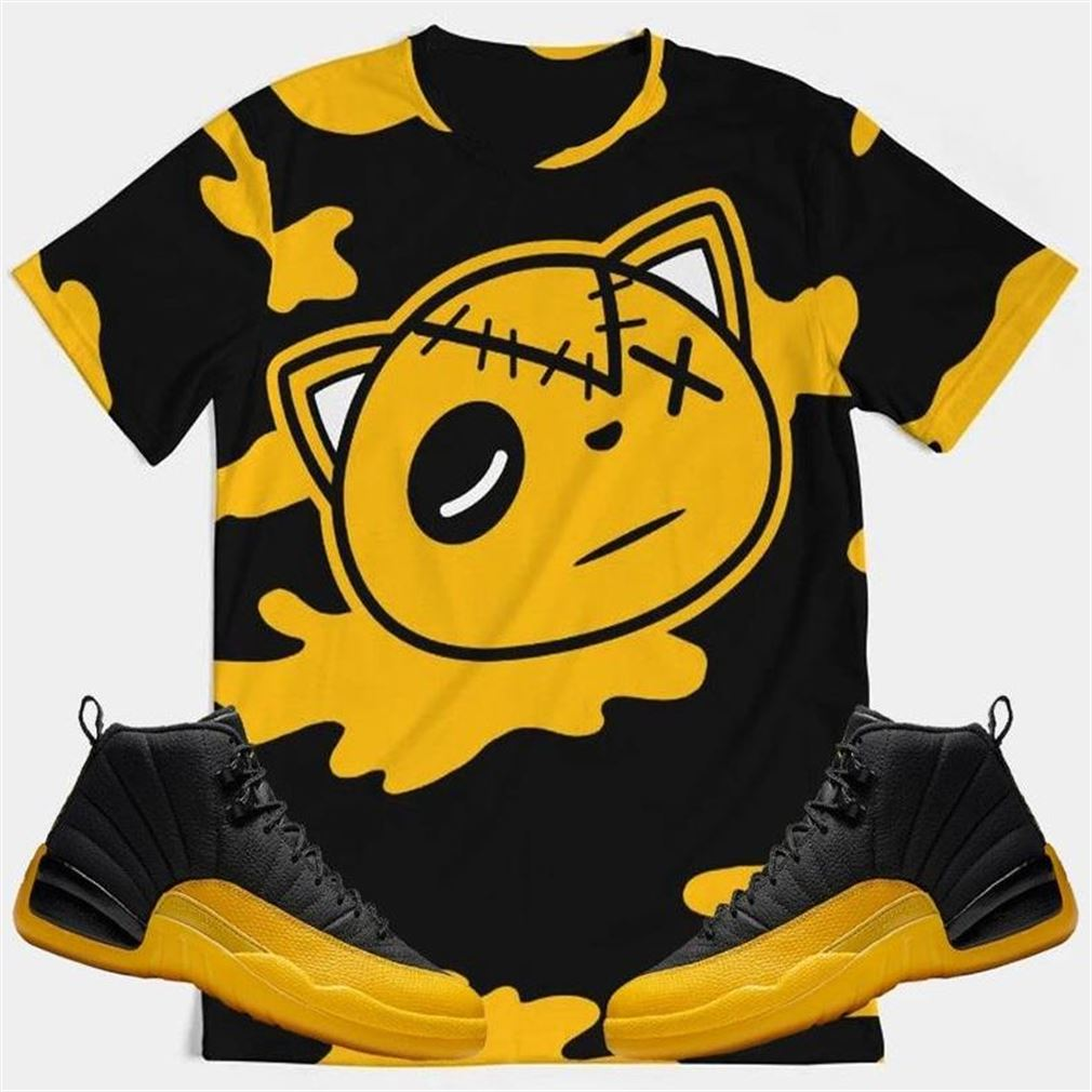 Awesome T-shirt Hf Cat Camo University Gold Retro 12_39_s T-shirt Air Jordan 12 University Gold Retro 12 Sneaker Tee All Over Print Tee Marvelous