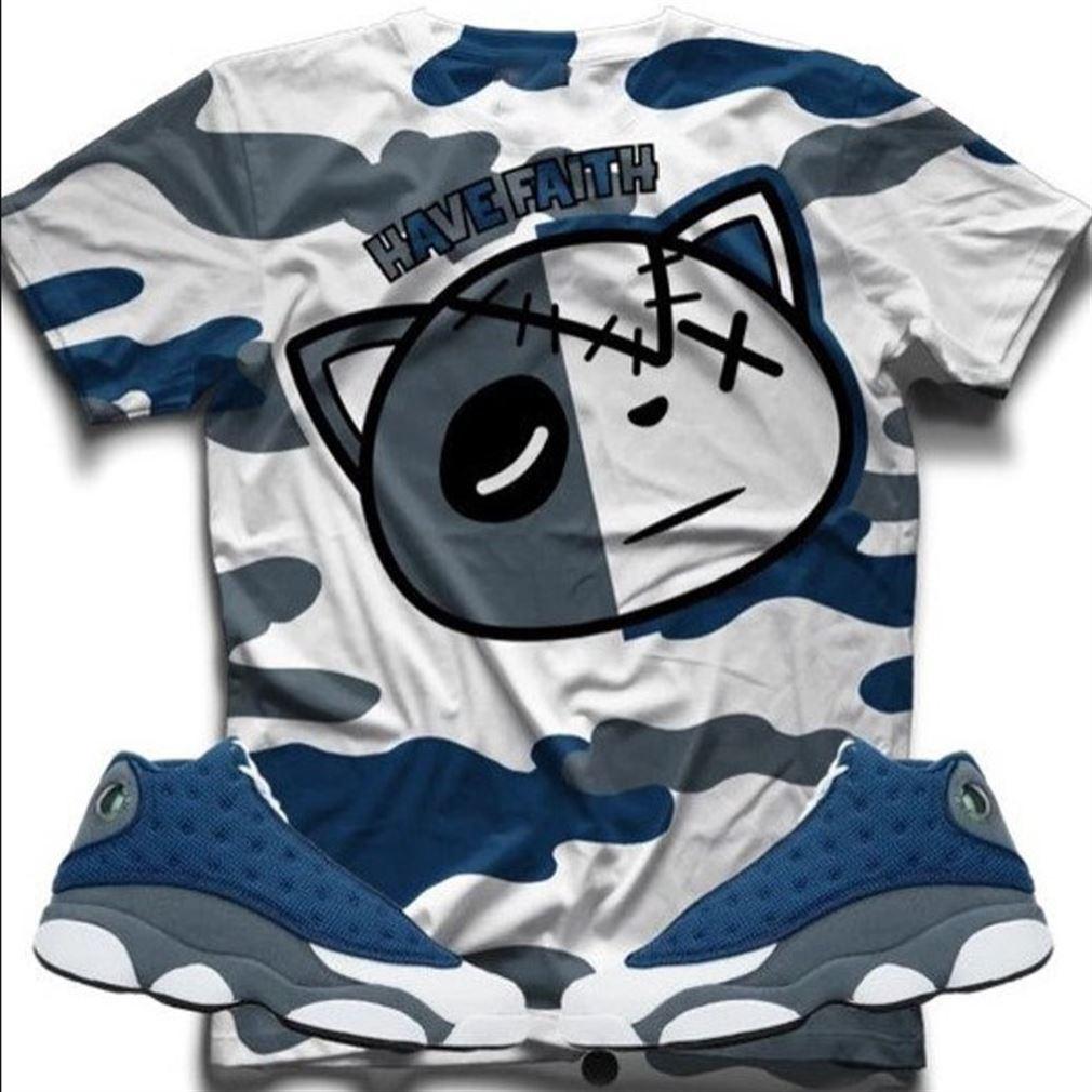 Terrific Tees Hf Wave Flint Retro 13 T-shirt T-shirt And Face Mask To Match The Air Jordan Retro 13 Flint Jordan Sneaker So Epic