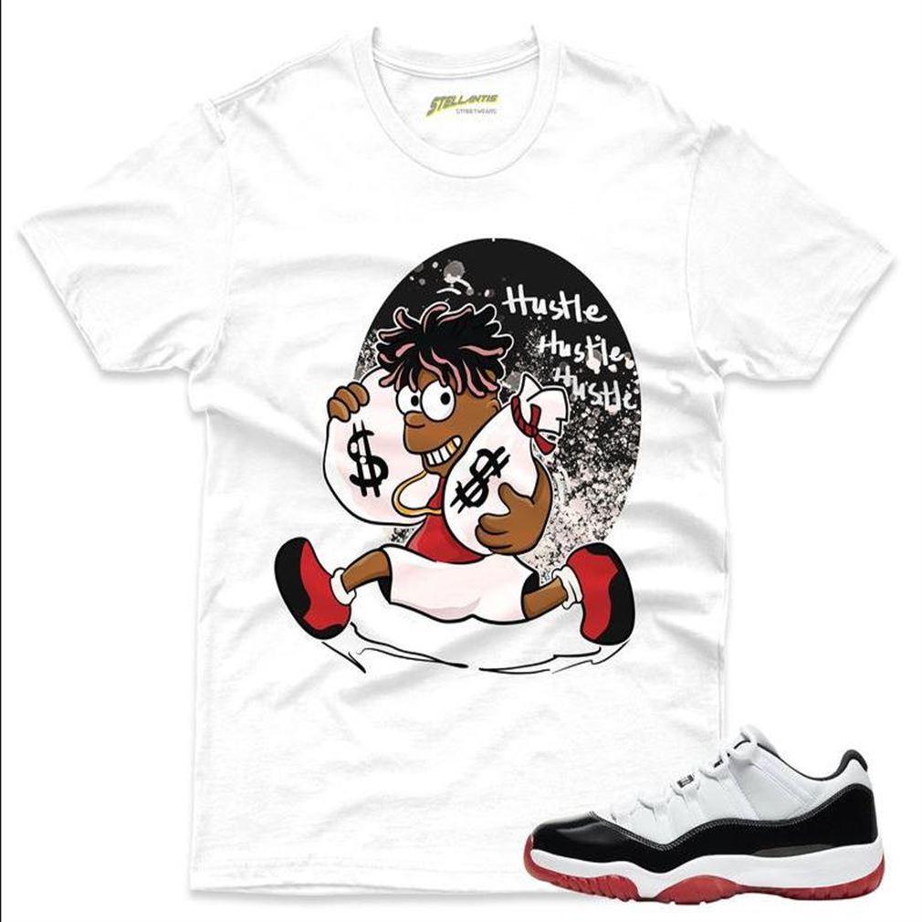 Awesome T-shirt Hustlaz Shirt Match Jordan 11 Retro Low Gs _quot_concord Bred_quot_ Sneaker Unisex For Men And Women
