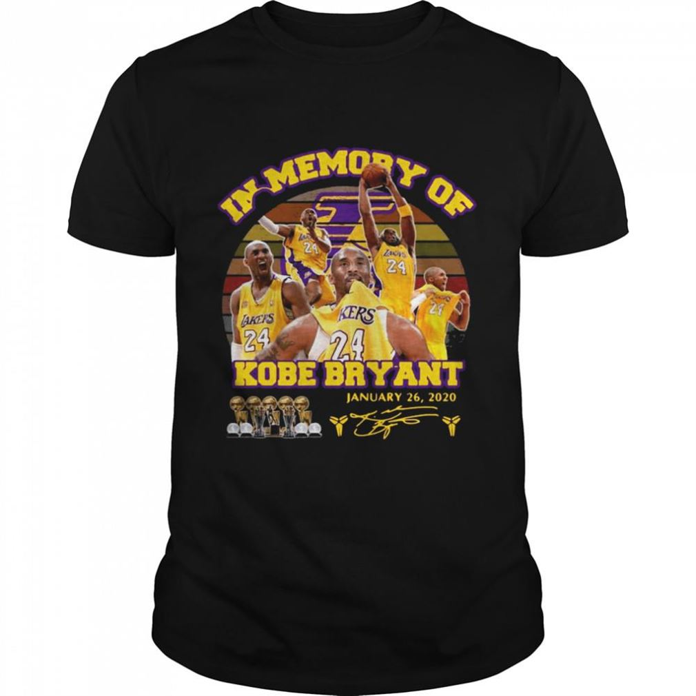 The Bee's Knee T-shrirt In Memory Of Kobe Bryant January 26 2020 Signature Vintage 100% Cotton