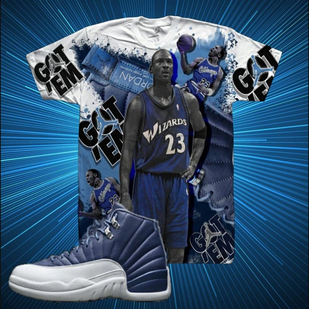 Great Tee Indigo Blue Jordan Wizards 23 Got Em T-shirt To Match Air Jordan 12 Retro Indigo Sneaker Unisex Marvelous