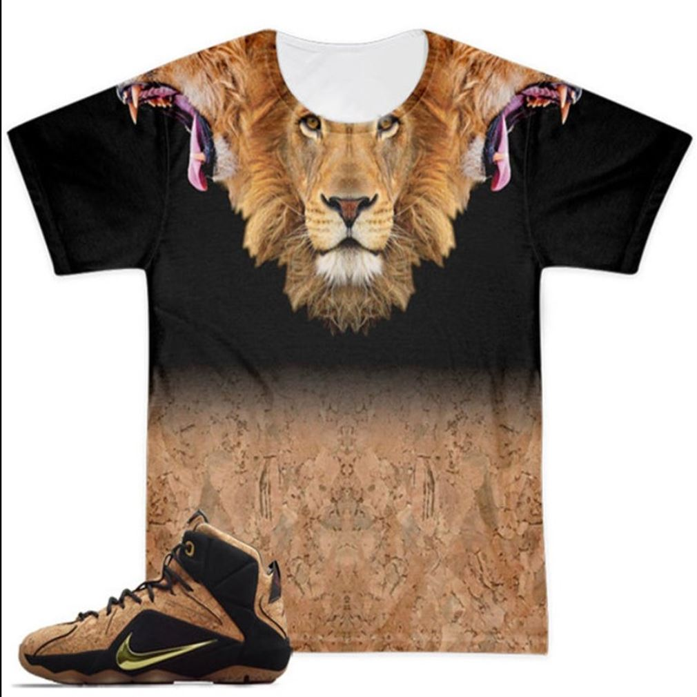 Awesome Tees Lebron 12 Ext Cork 3 Heads Of The Lion Hot 2021