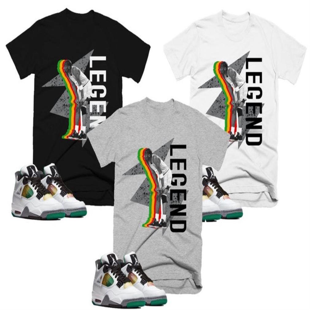 Lightning Legend Kobe Bryan T-shirt Retro Jordan 4 Lucid Green Rasta T-shirt T-shirt To Match Your Sneaker Unisex Tee