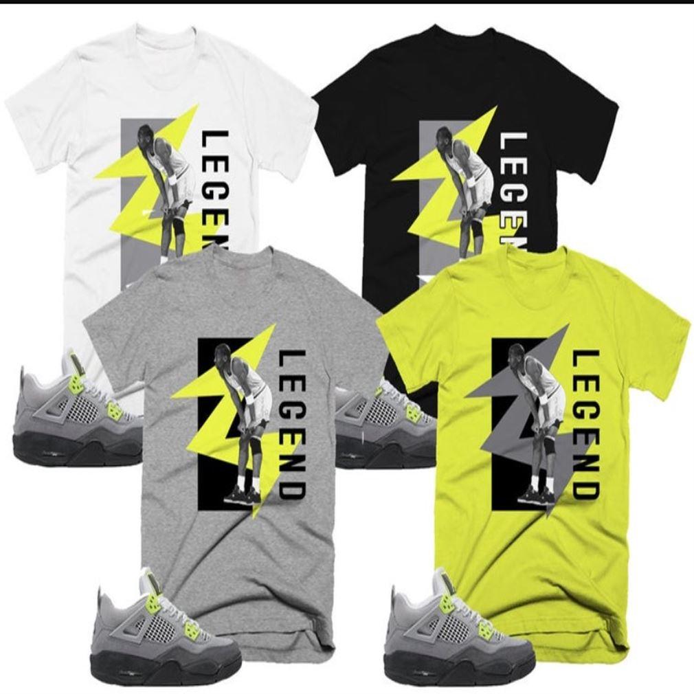 Lightning T-shirt Kobe Bryan Legend Retro Jordan 4 Volt 95 Neon Air Max 95 T-shirt T-shirt To Match Your Sneaker Unisex Tee