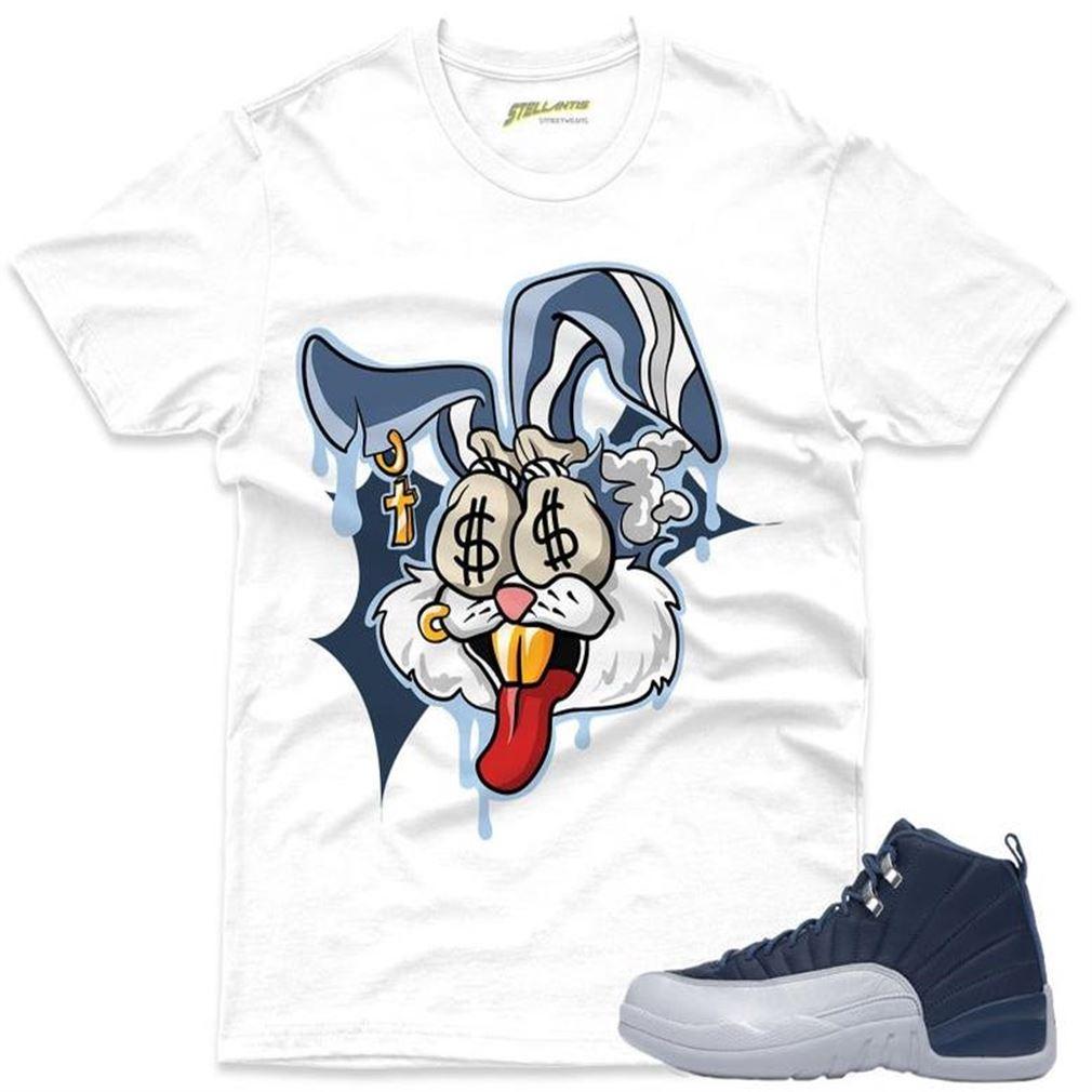 Money Motive Bunny - Air Jordan 12 Retro _quot_indigo_quot_ Sneaker Streetwear Unisex
