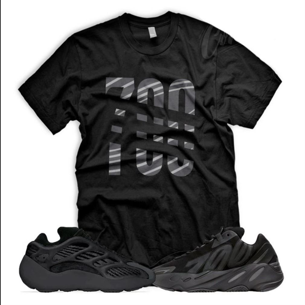 New 700 T Shirt To Match Yeezy 700 V3 Alvah Triple Black Mnvn Vanta 350 T-shirt To Match Your