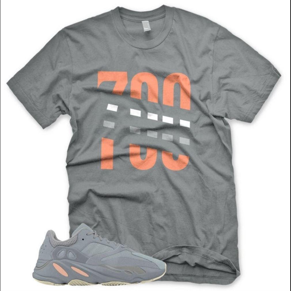 New 700 T Shirt For Adidas Yeezy Boost 700 Inertia Mauve Butter Gray Sneaker Unisex