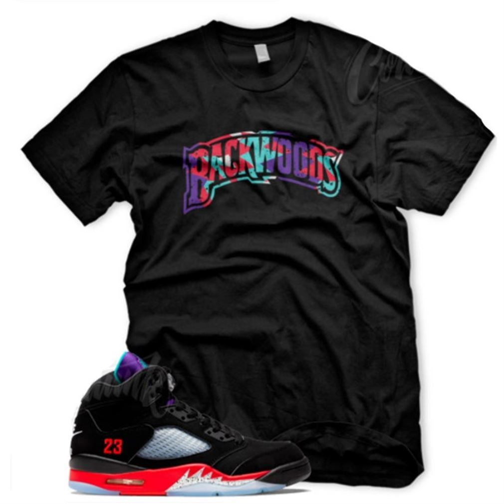 New Backwoods T Shirt For Jordan 5 Top 3 Fire Red Grape Teal V T-shirt To Match Your