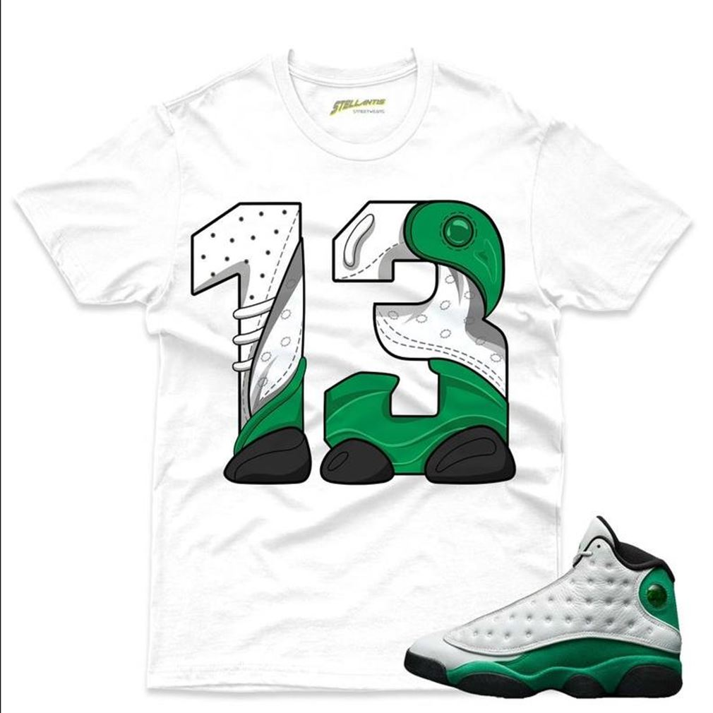 New Number 13 Shirt To Match Jordan 13 Retro White _quot_lucky Green_quot_ Sneaker Unisex