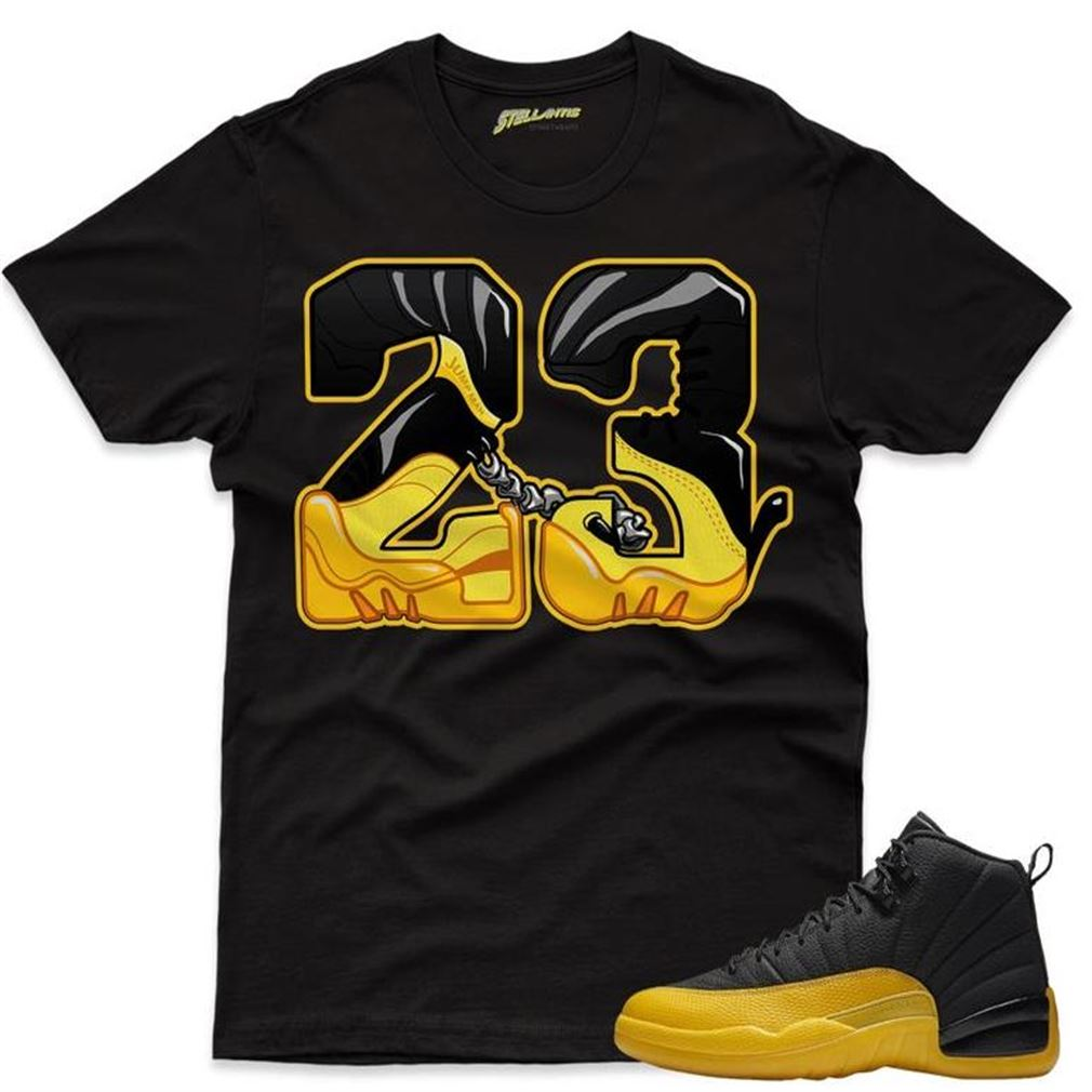 New Number 23 - Air Jordan 12 Retro Black _quot_university Gold Sneaker Streetwear Unisex