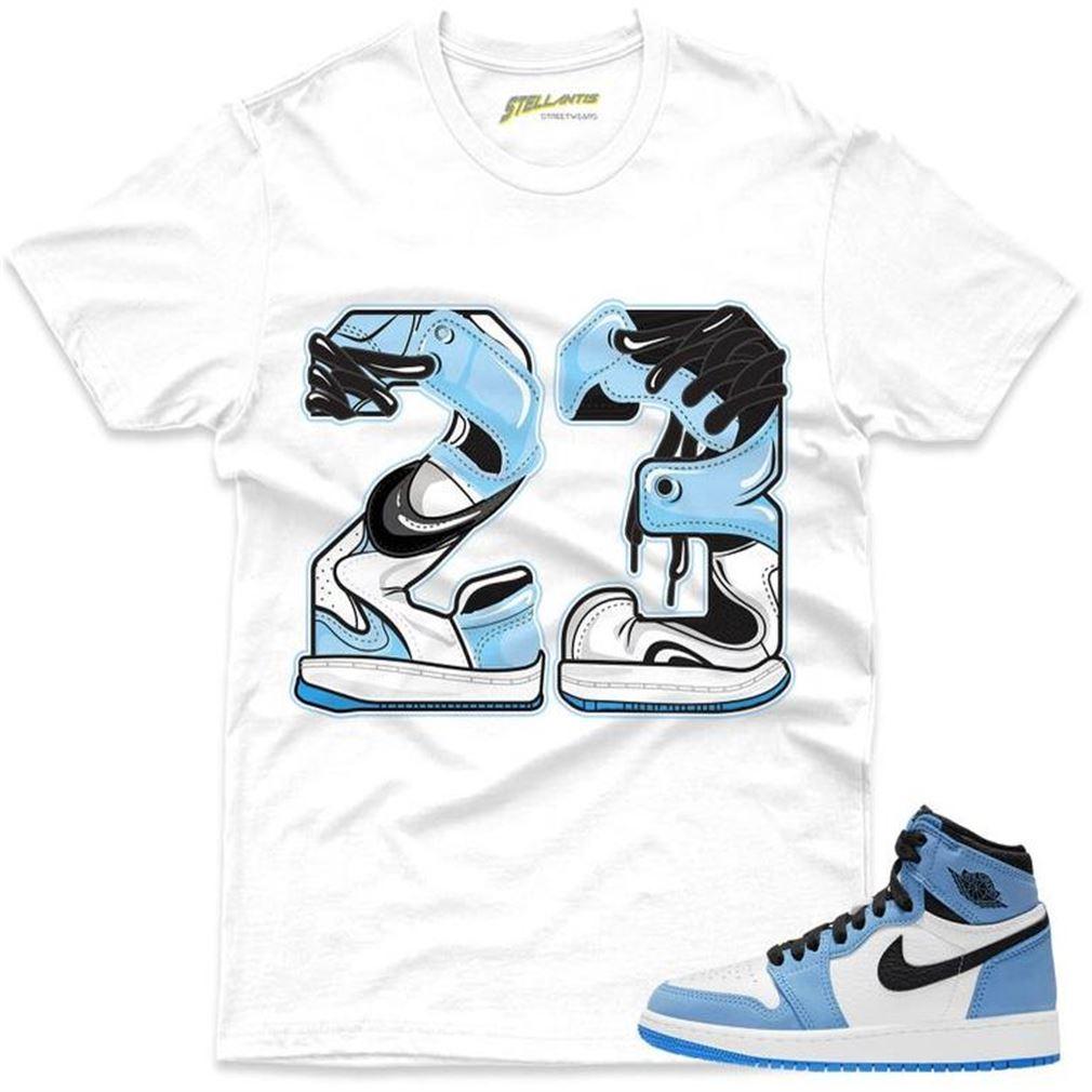 New Number 23 Shirt Match Jordan 1 Retro High Og University Blue Sneaker Unisex