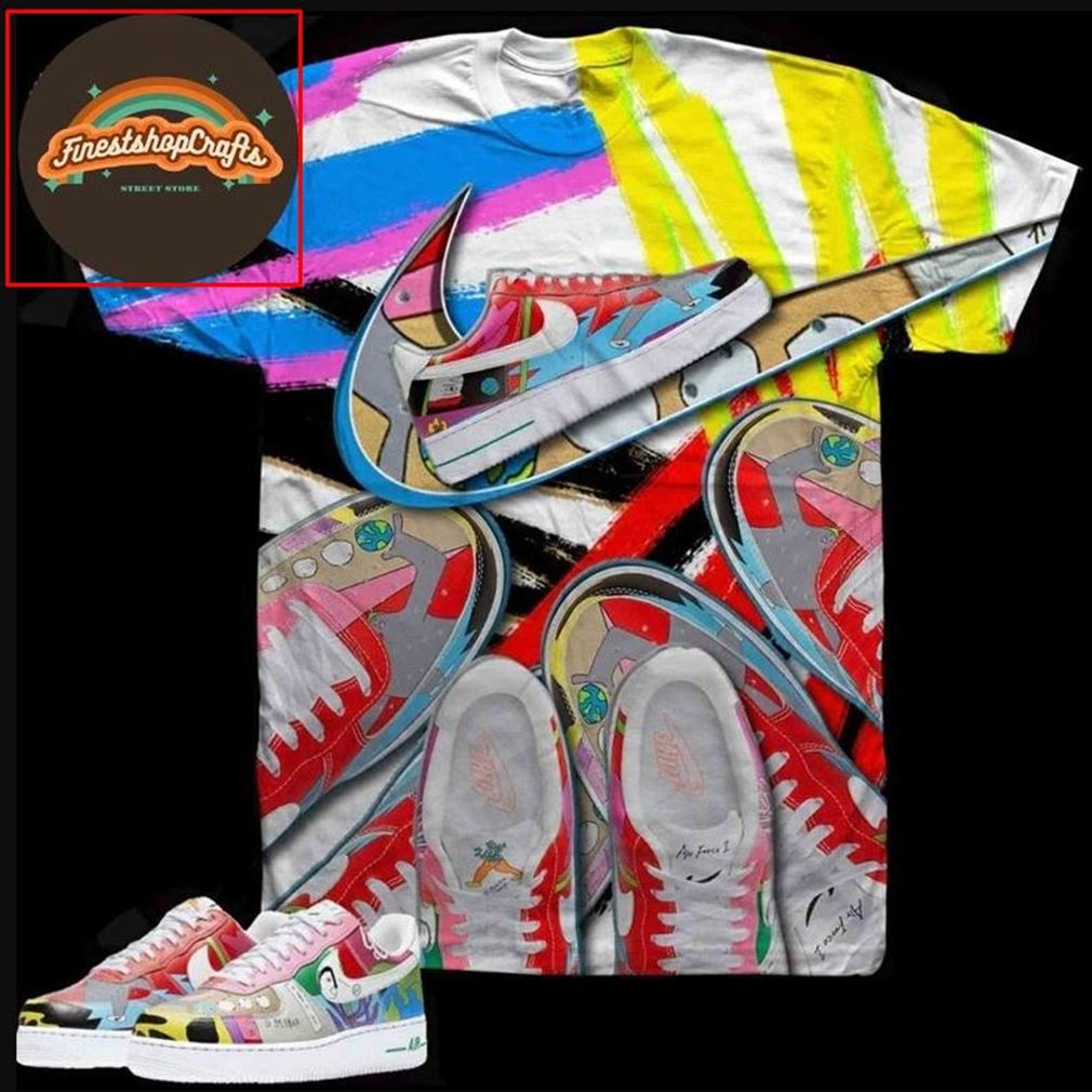 Amazing Tee Nike Duo 3d T Ruohan Wang X Nike Flyleather Air Force 1s Sublimated Bel Air Tee 3d T Hot 2021