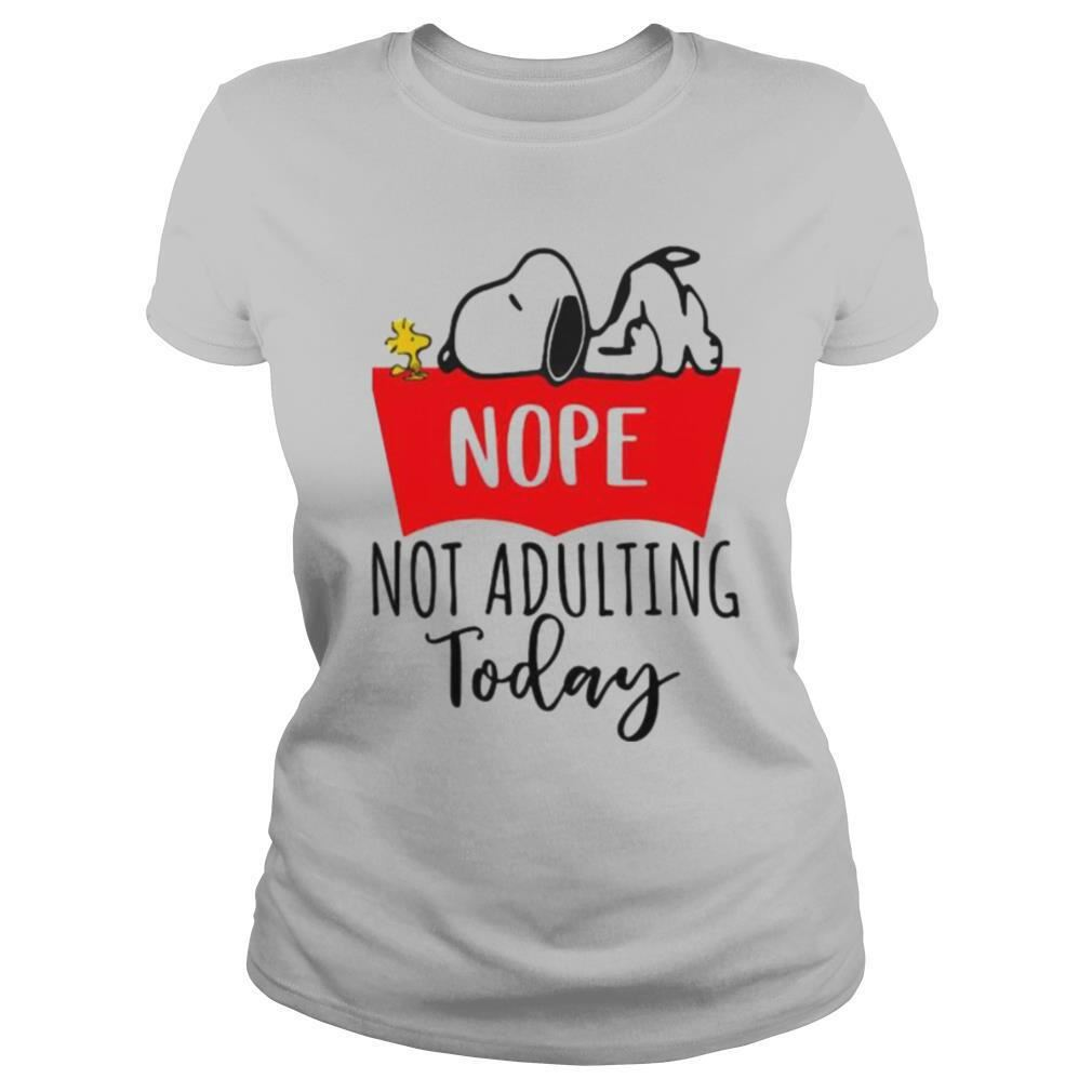 Nope Not Adulting Today Snoopy