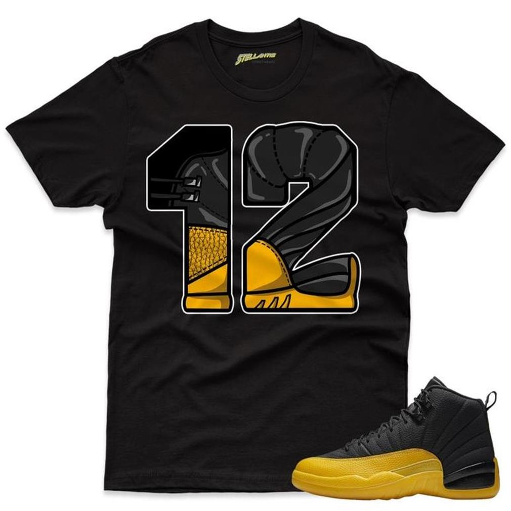 Number 12 - Air Jordan 12 Retro Black _quot_university Gold_quot_ Sneaker Streetwear Unisex