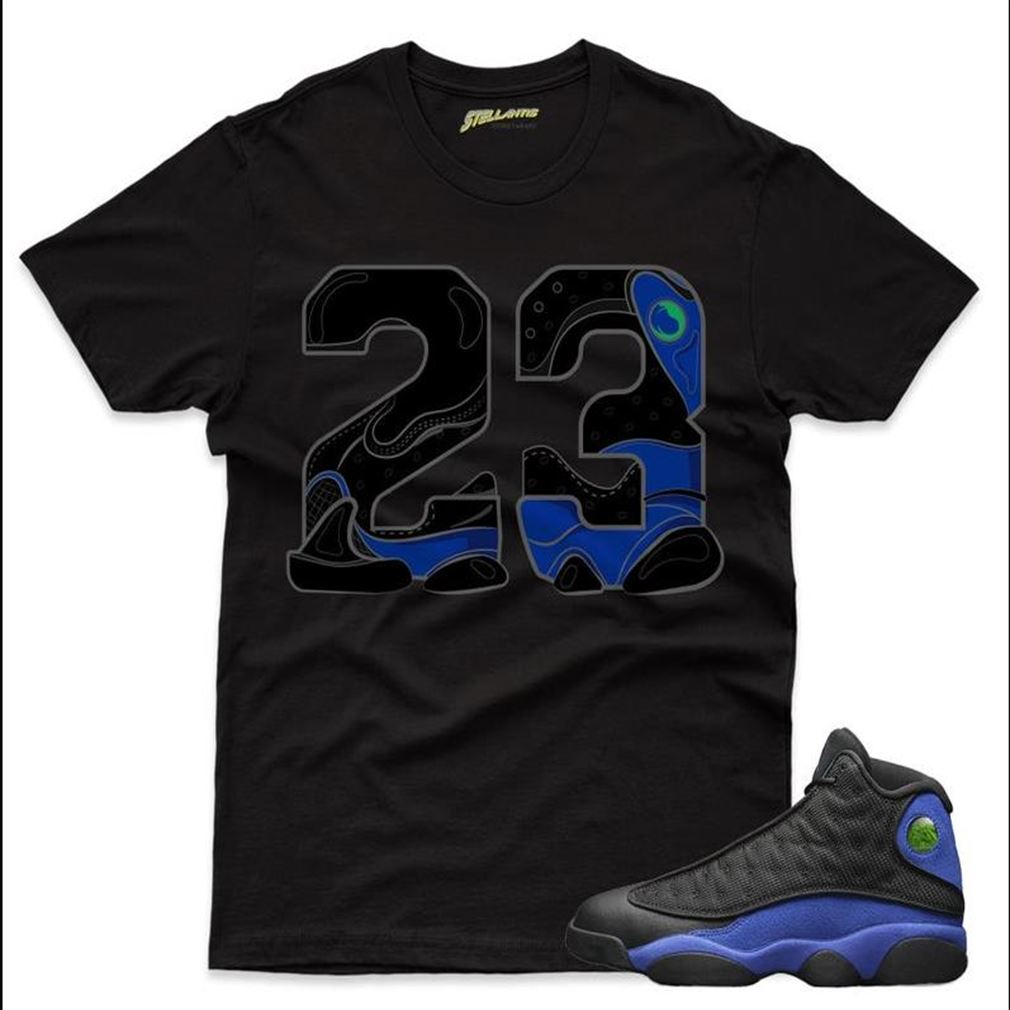 Number 23 Shirt Match Jordan 13 Retro Black Hyper Royal Sneaker Unisex