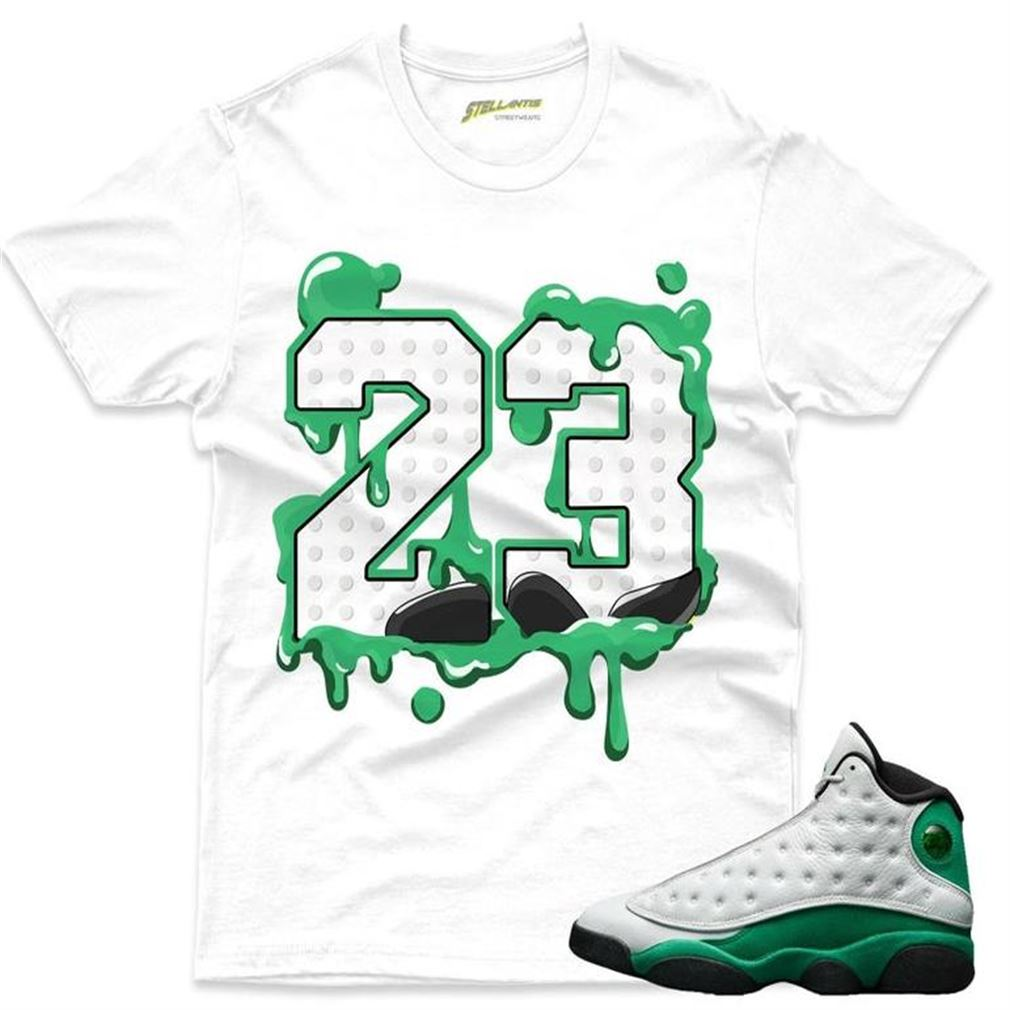 Number 23 Shirt To Match Jordan 13 Retro White _quot_lucky Green Sneaker Unisex
