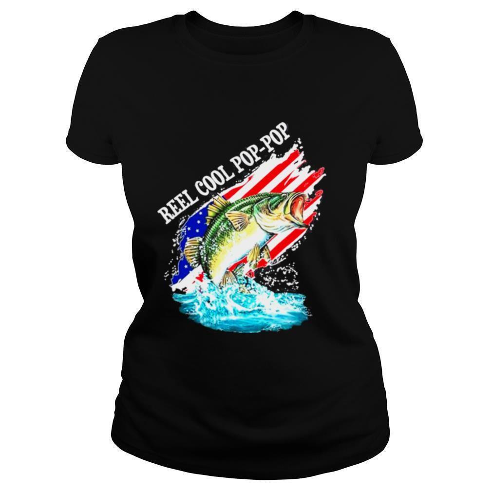 Amazing T-shirt Reel Cool Pop Pop American Flag Hot 2021