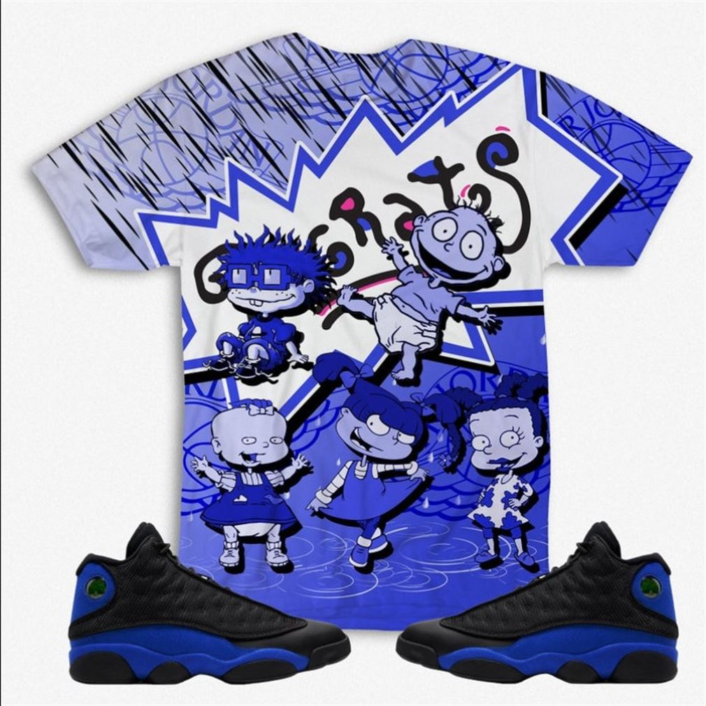 Awesome T-shirt Rugrats All Over Print Unisex Shirt To Match Air Jordan 13 Retro Hyper Royal Hyper Royal 13 Unisex Shirt Hoodie Sweatshirt Rugrats Hot 2021