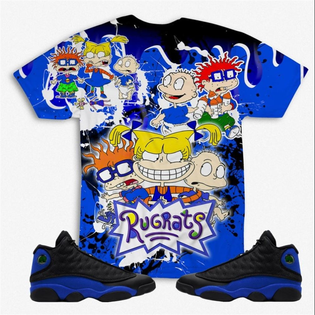 Terrific Tees Rugrats 3d All Over Print Unisex Shirt To Match Air Jordan 13 Retro Hyper Royal Hyper Royal 13 Unisex Shirt Hoodie Sweatshirt Street New 2021