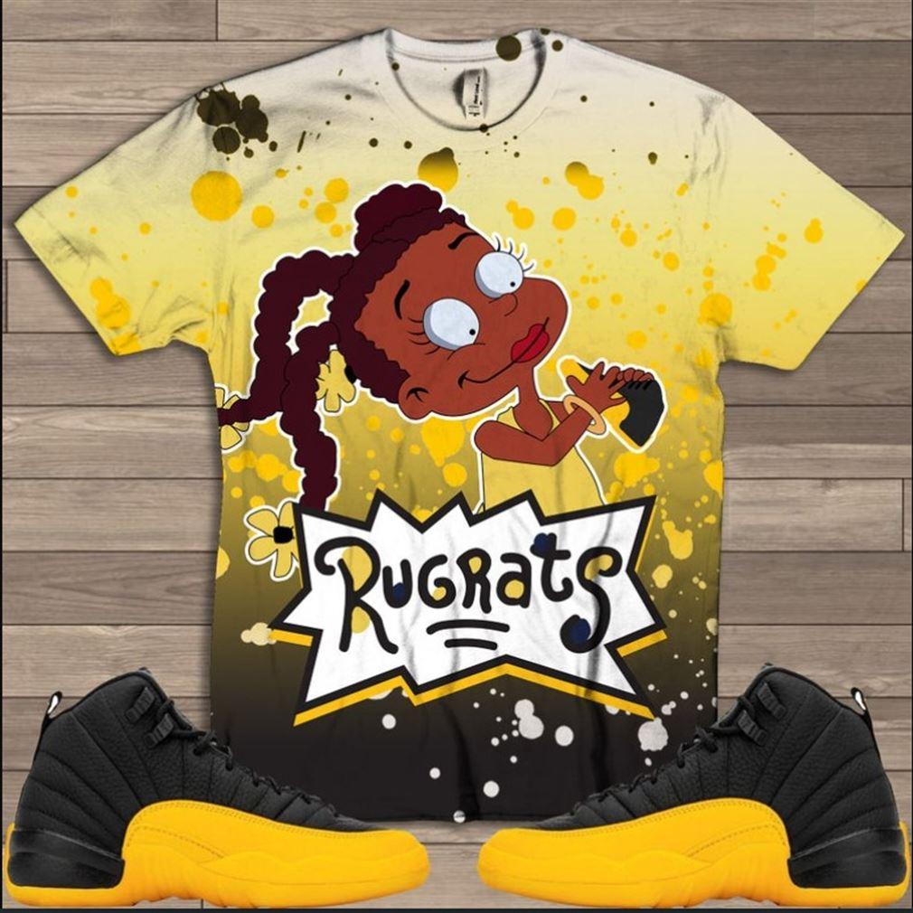 The Bees Knees Tee Shirt Rugrats Susie T-shirt Black University Jordan 12 Black University Gold Air Jordan 12 University Gold Shirt T-shirt To Match Hot 2021