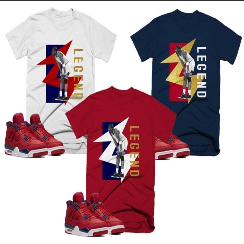 Great Trill Fiba Kobe Bryan Legend T-shirt To Match Retro Jordan 4 Colorblock Air Jordan 4 Colorblock 100% Cotton