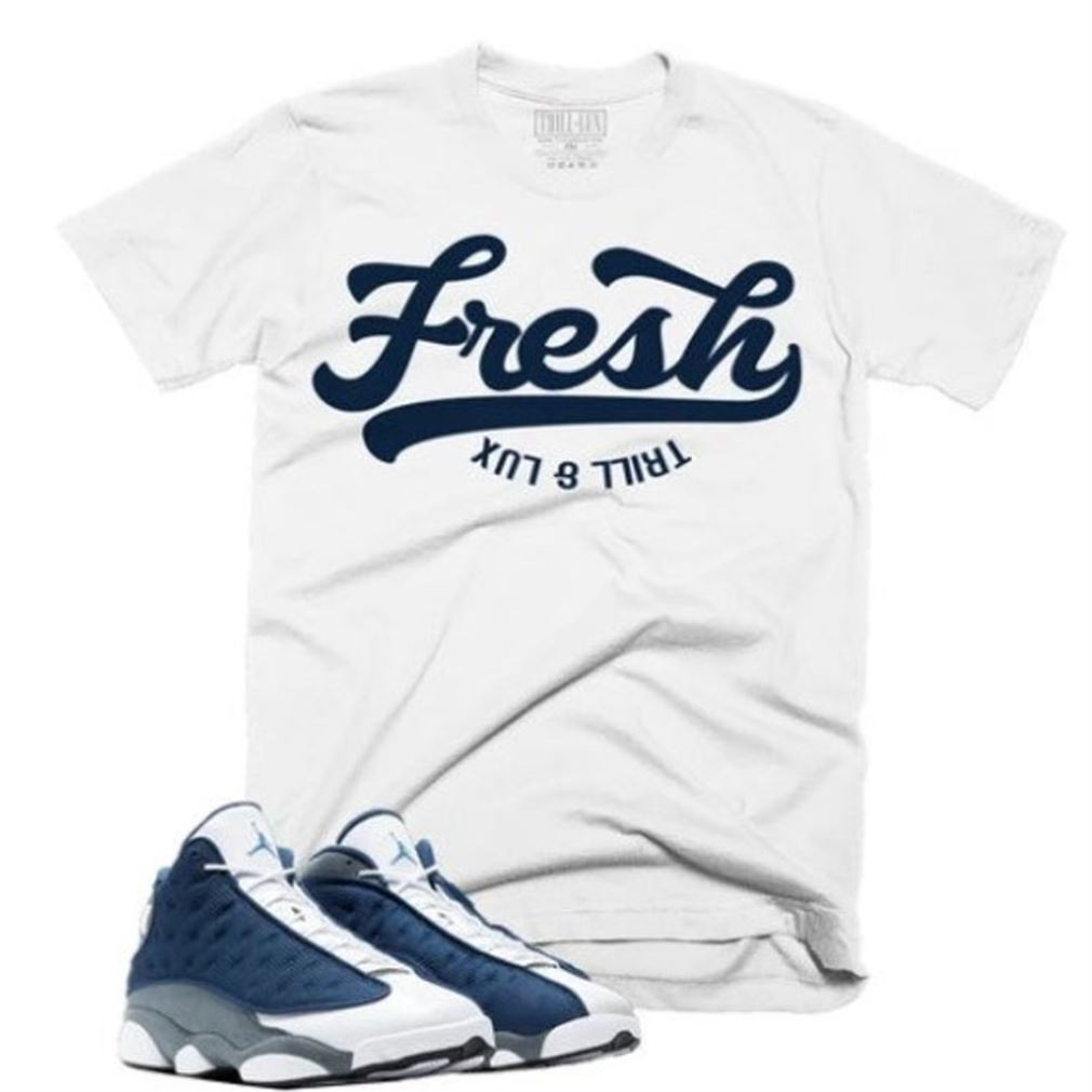 Terrific Trill Lux Fresh Tee Retro Air Jordan 13 Flint Inspired New 2021