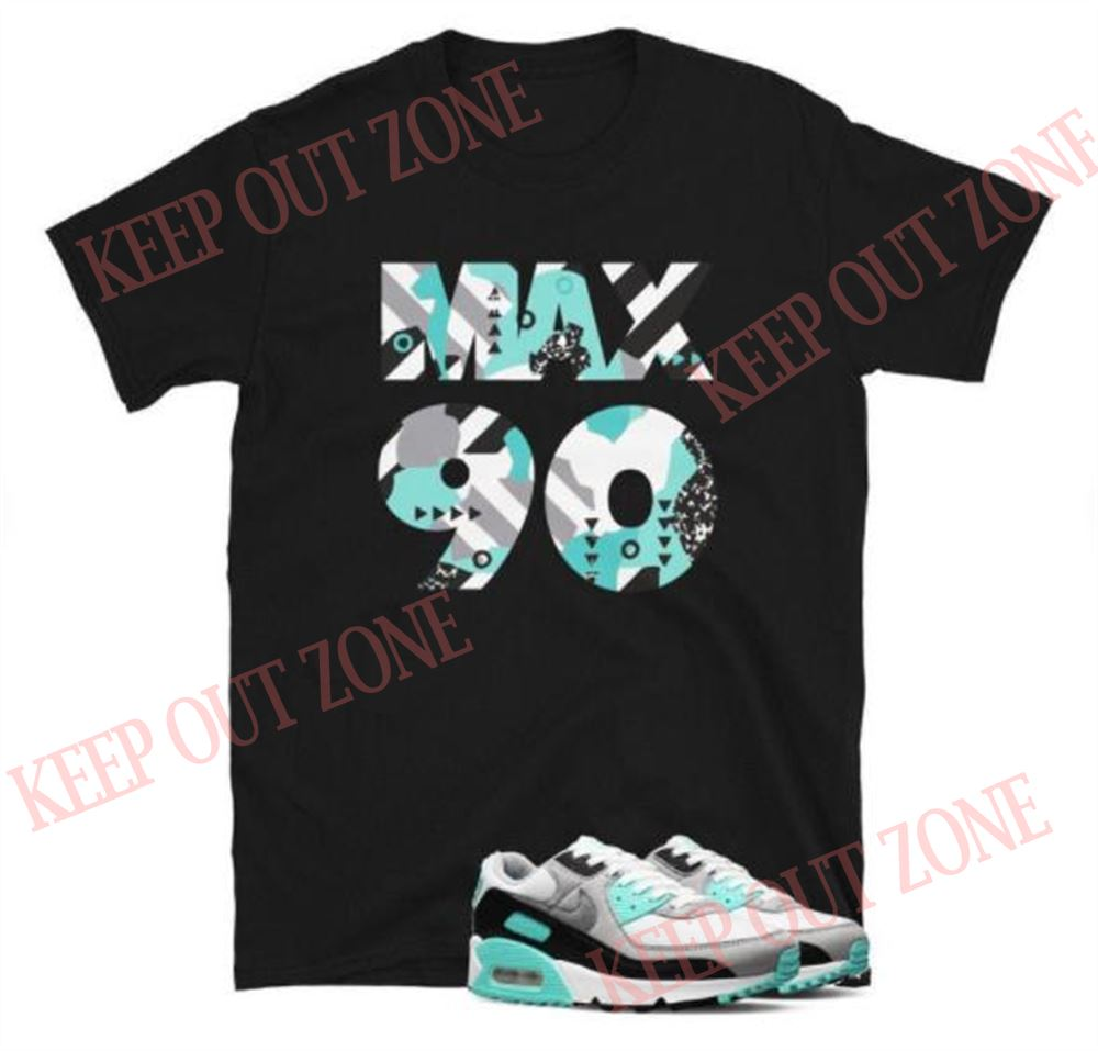 Air Max 90 Hyper Turquoise Short-sleeve Unisex T-shirt