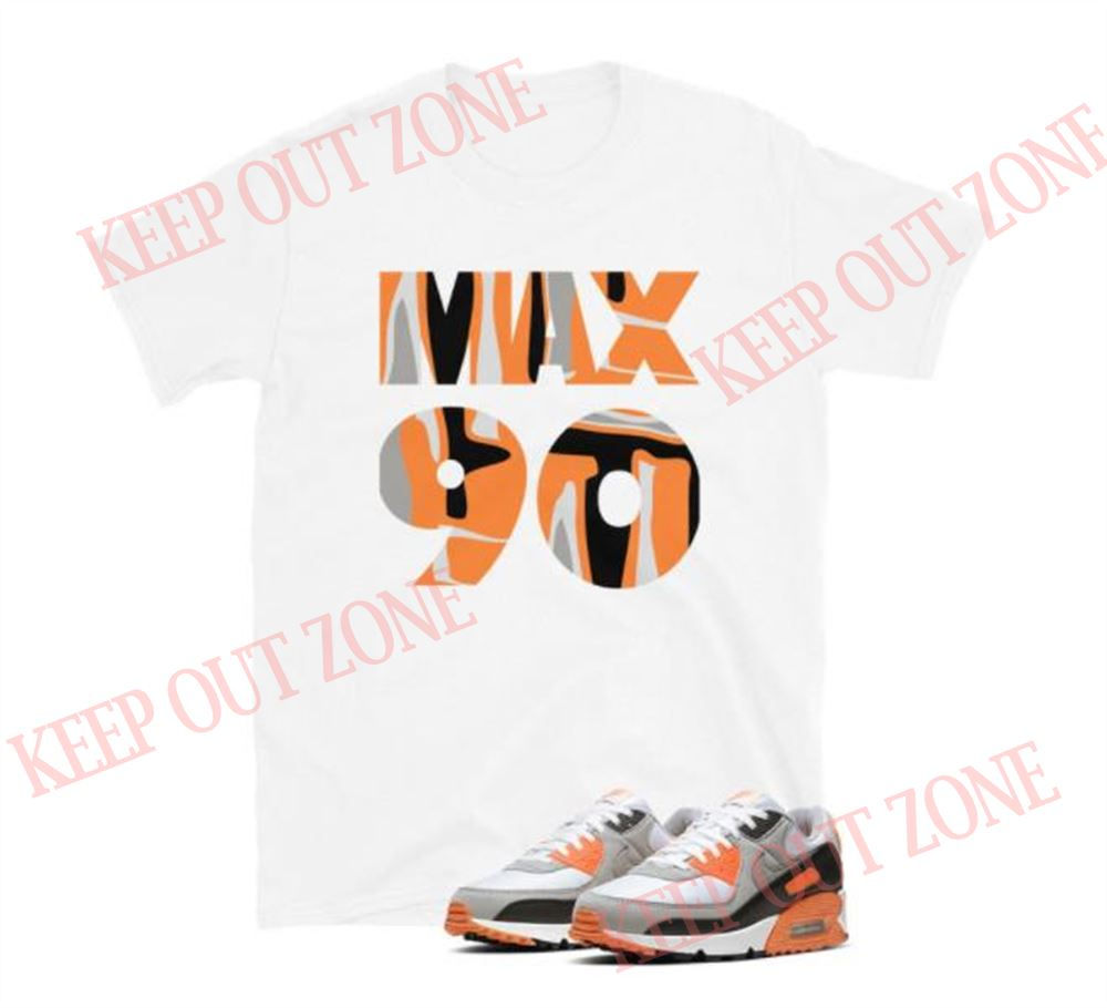 Air Max 90 Recraft Total Orange Short-sleeve Unisex T-shirt