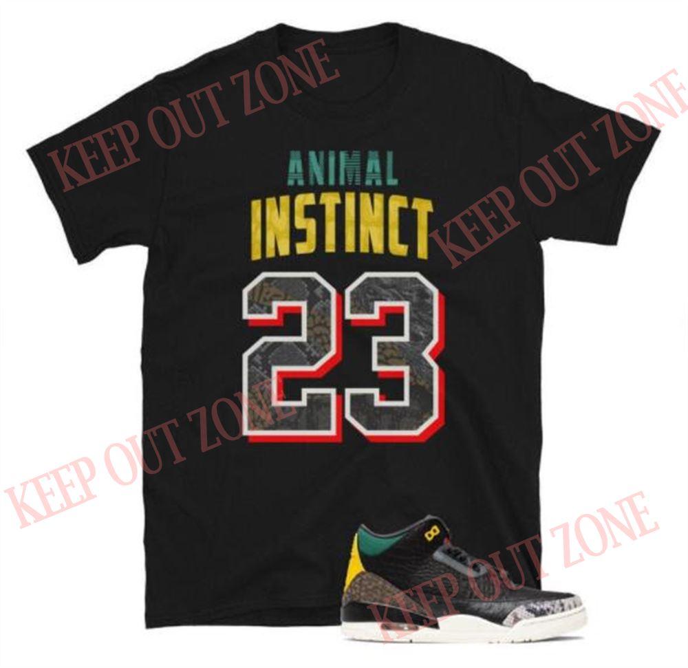 Awesome T-shirt Animal Instinct Tee Jordan 3 Retro Atmos Unisex T-shirt So Epic
