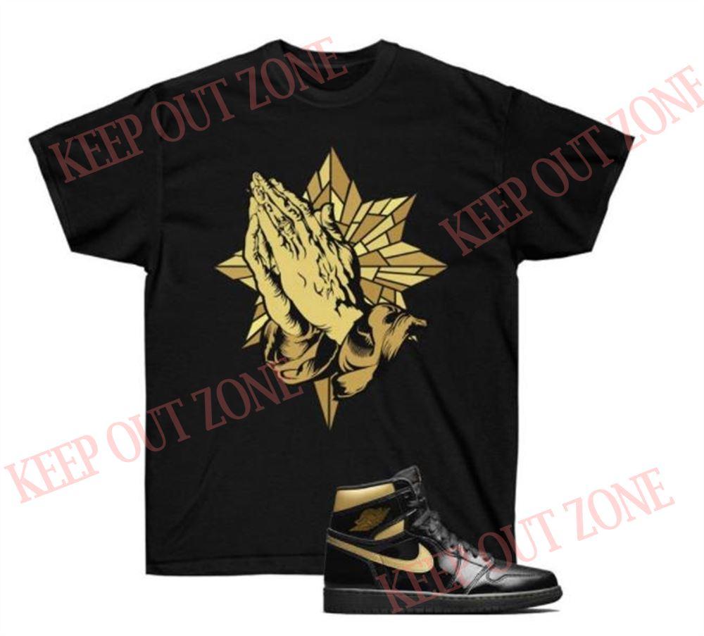 Amazing T-shirt Blessed Tee Jordan 1 Retro Metallic Gold Unisex T-shirt Marvelous