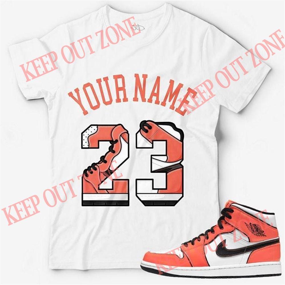 The Bees Knees Tee Shirt Custom Text _ Number 23 Unisex T-shirt Match Jordan 1 Mid Turf Orange So Fabulous