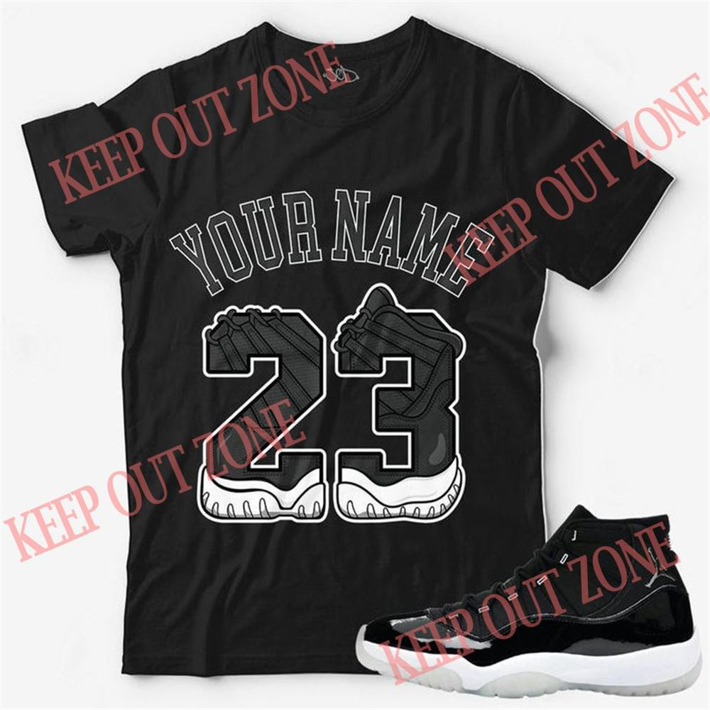 Awesome Custom Text _ Number 23 Unisex T-shirt Match Jordan 11 Jubilee Marvelous