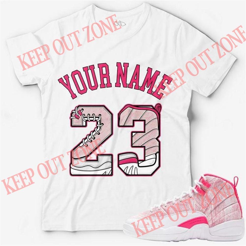 Terrific Custom Text _ Number 23 Unisex T-shirt Match Jordan 12 Hyper Pink So Beautiful
