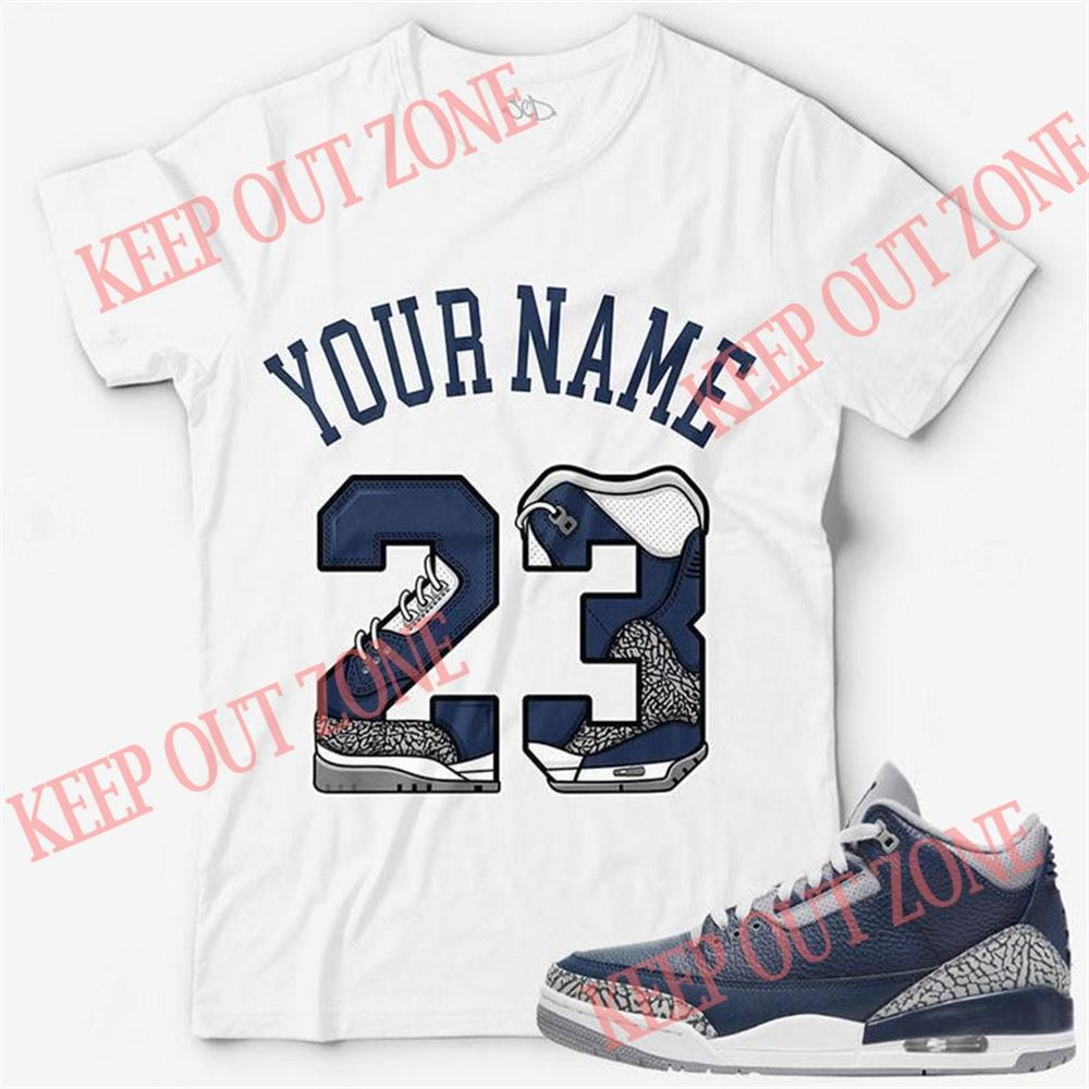 The Bee's Knee T-shrirt Custom Text _ Number 23 Unisex T-shirt Match Jordan 3 Georgetown So Beautiful