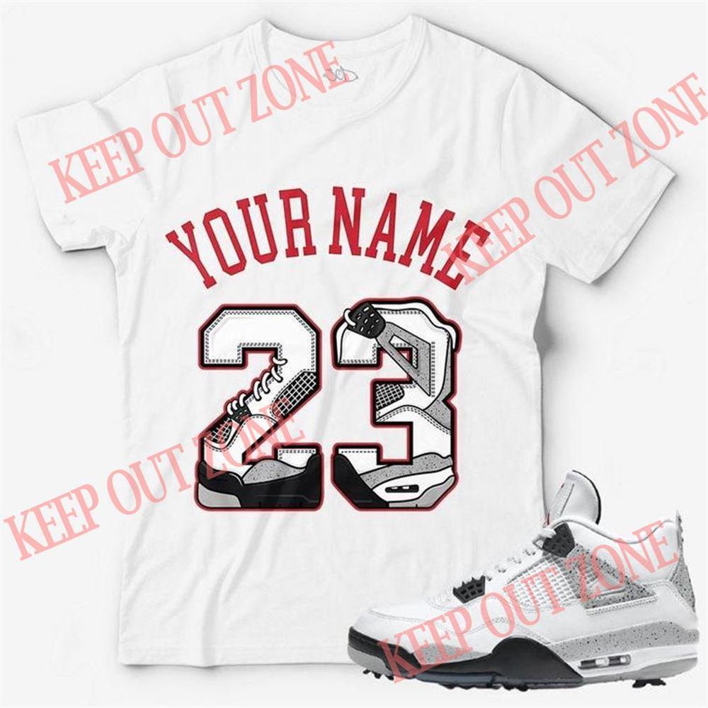 The Bee's Knee T-shrirt Custom Text _ Number 23 Unisex T-shirt Match Jordan 4 Golf White Cement For Men And Women
