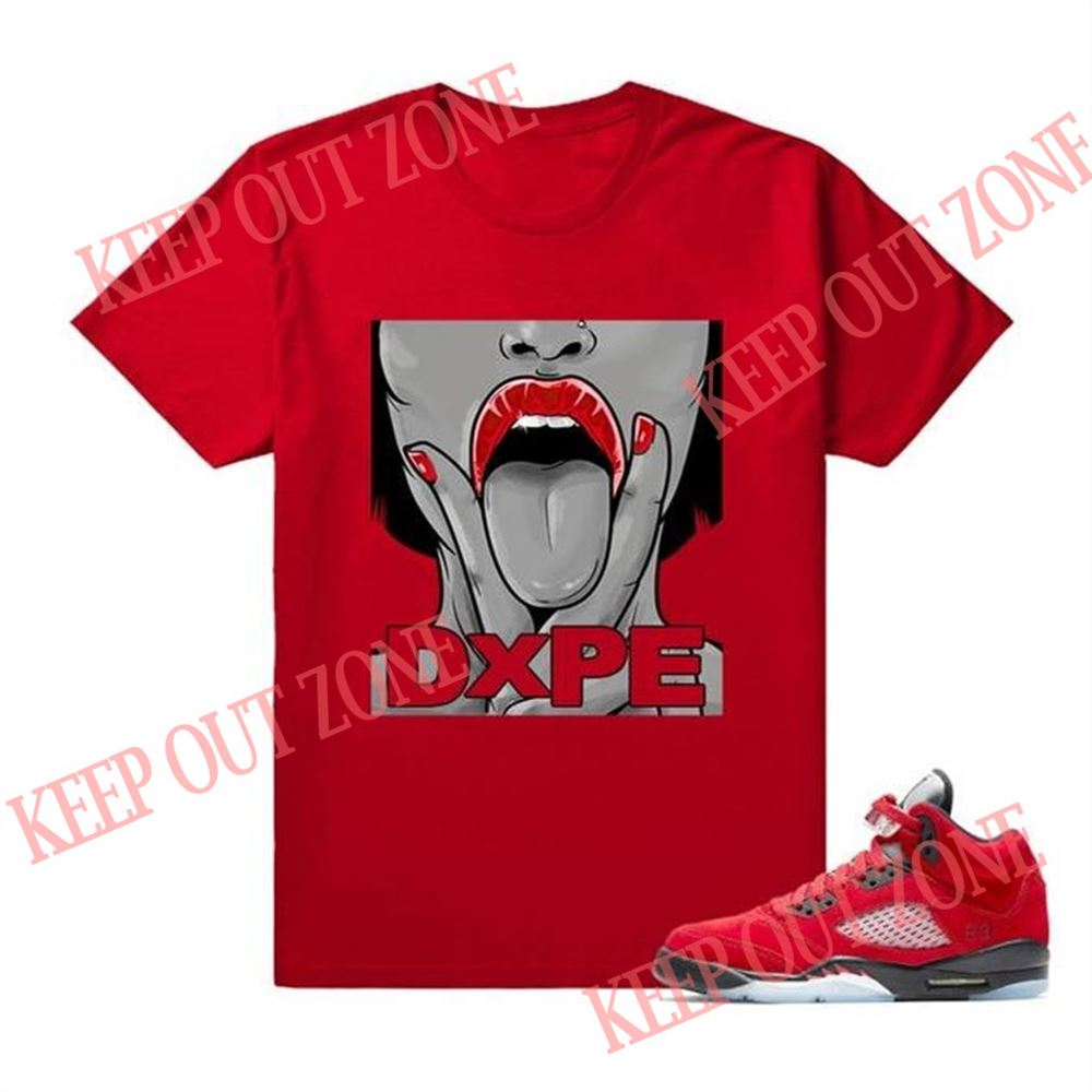 Great Tee Dxpe 5s Air Jordan 5 Raging Bull Custom T Shirt Tees Red So Fabulous