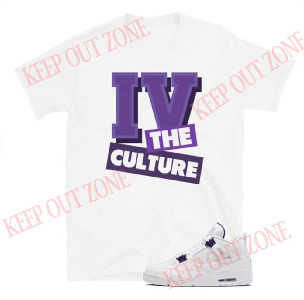 Amazing For The Culture Tee Jordan 4 Retro Metallic Purple Unisex T-shirt So Epic