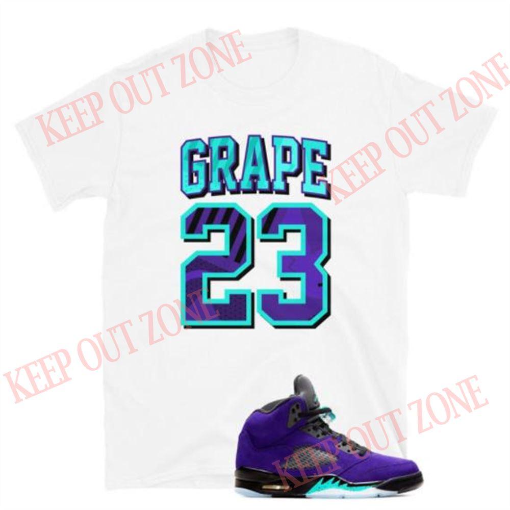 Amazing Tee Grape 23 Tee Jordan 5 Retro Purple Grape Unisex T-shirt So Fabulous